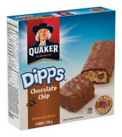 Barres tendres aux brisures de chocolat Dipps de Quaker