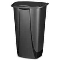 Sterilite 42 Liter Black SwingTop Wastebasket
