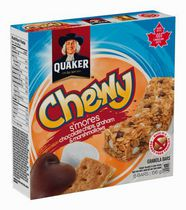 Quaker Chewy S'mores Chocolate Chips, Grahams and Marshmallows Granola Bars