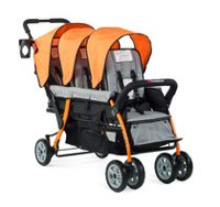 Foundations 3 Passenger Stroller Orange