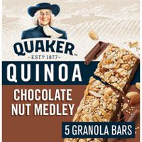 Quaker Harvest Crunch Quinoa Chocolate Nut Medley Granola Bars