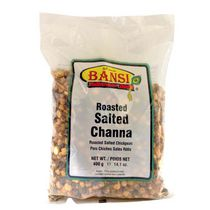 Pois chiches salés rôtis « Roasted Salted Channa » de Bansi, 400 g