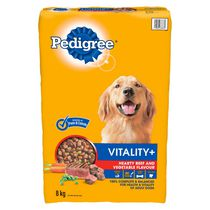 New PEDIGREE VITALITY Dry Food now with IMMUNITY BOOST for Adult Dogs in Beef Flavour 2kg 8kg