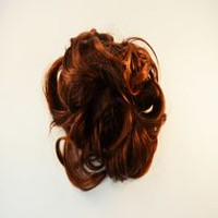 Fashion Hair 3 Prong Wavy Hairstyle Dark Red