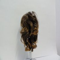 Fashion Hair Cheveux tendance ondulés à 3 broches Golden Brown