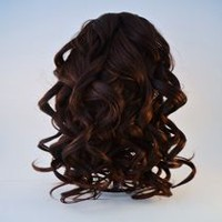 Fashion Hair Long wavy Jaw Comb Dark Red
