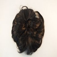 Fashion Hair Medium Wavy Scrunchie Black