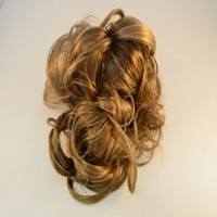 Fashion Hair 3 Prong Wavy Hairstyle Dark Blonde