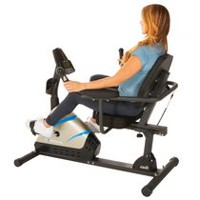 "Exerpeutic 2000 High Capacity Programmable Magnetic Recumbent Bike With ""Air Soft"" Seat and Heart Pulse Sensors"