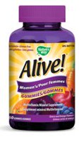 Nature's Way Alive! Women's Multivitamin/Mineral Supplement Cherry and Orange Gummies