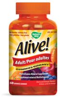 Nature's Way Alive! Adult Multivitamin/Mineral Supplement Cherry and Orange Gummies