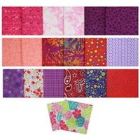 Fabric Creations Fat Quarter Cotton Fabric Assortment Pink, Purple, & Red