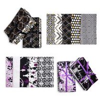 Fabric Creations Fat Quarter Cotton Fabric Bundle Black & White
