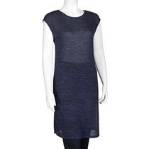 George Women's Hacci Tunic with Long Side Slits Navy L/G