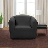 Sure Fit Montgomery Stretch Chair Slipcover Noir