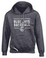 Toronto Blue Jays Design 24 Small Tailgate Hoody Charcoal L