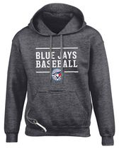 Toronto Blue Jays Design 24 Small Tailgate Hoody Charcoal Extra Large