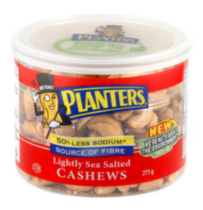 Planters Lightly Sea Salted Cashews