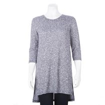 George Women's Ribbed Hacci Tunic Navy L/G