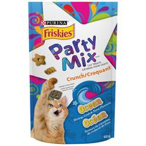 Friskies Party Mix® Shrimp, Crab and Tuna Flavoured Crunch Cat Treats 60g