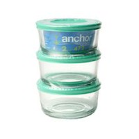 Anchor Hocking 2-Cup Mint Glass Food Storage Containers