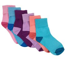 George Girls Cotton Blend Wardwrobe Cuff Socks