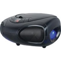 Sylvania Portable Bluetooth CD/Radio LED BoomBox