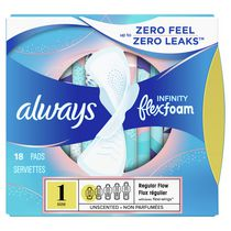 Always Infinity Unscented Regular Flow Pads with Flexi-Wings