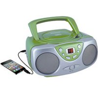 Sylvania Portable CD Player with AM/FM Radio Green