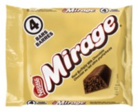 Emballage de 4 barres de chocolat de Mirage