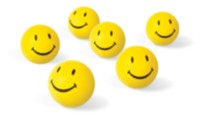38 mm 1 Star Smiley Table Tennis Balls - 6's
