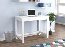 Safdie & Co. Computer Desk 39L White 1 Compact Drawer