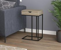 Dark Taupe Q-Max CID11151129ET Contemporary Round End Table
