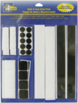 More 4 Less Hook & Loop Assortment - Black and White