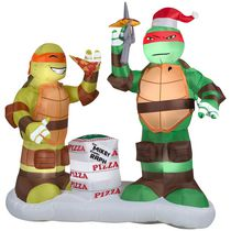 Airblown Self-Inflatable Raphael and Michelangelo with Pizza Scene