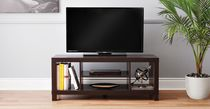 hometrends Espresso Hollow Core TV Stand