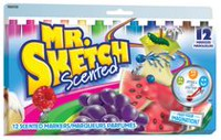 Mr. Sketch Scented Colour Markers, Assorted, 12-Pack
