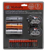 Kubota LED Flashlight & Headlamp Set