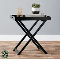 hometrends Folding Tray Table Black