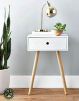 hometrends Side Table with Drawer White