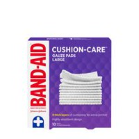 BAND-AID Gauze Pads, Large, 10s