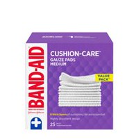 BAND-AID Gauze Pads, Medium, 25s