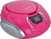 Sylvania Portable CD/Radio BoomBox Pink