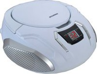 Sylvania Portable CD/Radio BoomBox White