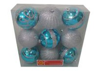 9 Pc Shatterproof Ornaments