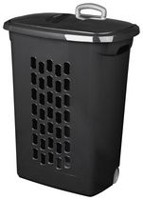 Sterilite Ultra™ Black Wheeled Hamper