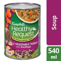 Campbell's® Healthy Request Gluten Free Spicy Vegetable Turkey with Rutabaga Soup
