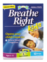 Breathe Right Nasal Strips Kids 10's