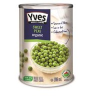 Petits pois verts Yves, 398 ml