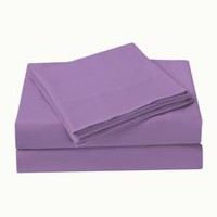 Mainstays Orchid Microfiber Solid Sheet Set